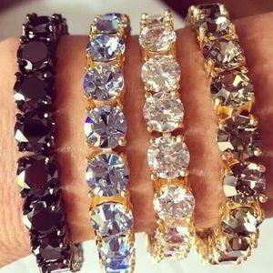 Cz bracelet in variety of colors